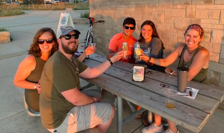 Dig the Dunes Trail Stop cheers