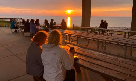 Dig the Dunes Trail Stop dining at sunset