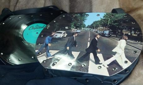 Hand-crafted Beatles purses from albums Its Just Serendipity Shopping Hammond