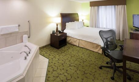 Hilton Garden Inn Merrillville Hotel king with whirlpool