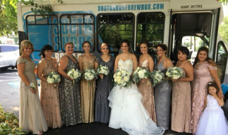 South Shore Brew Bus wedding party