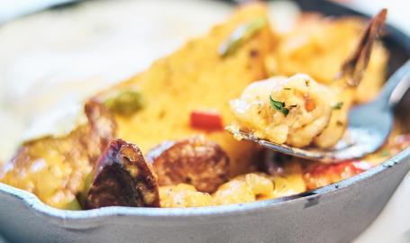 Avgo Egg & Shrimp Skillet