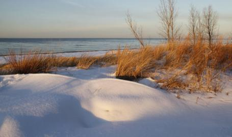 Indiana Dunes National Park Beaches in winter