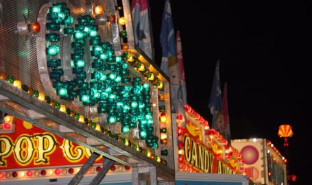 Lake County Fair Things to Do Crown Point lights