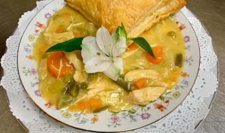 Merrillville florist and tea room Chicken pot pie