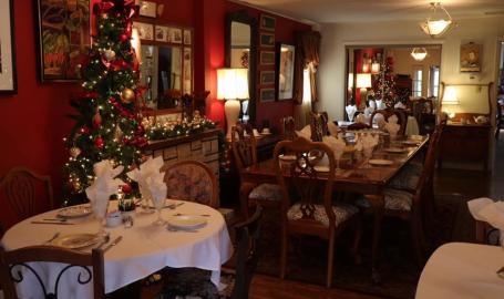 Merrillville Florist and tea room dining room