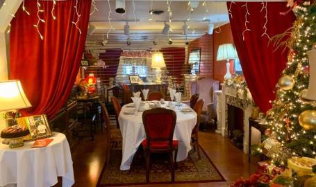 Merrillville florist and tea room red velvet room