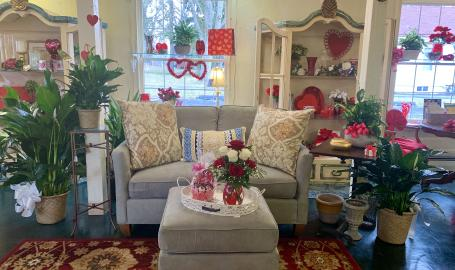 Merrillville florist and tea room valentines day