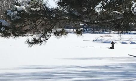 Rogers Lakewood Park ice fishing