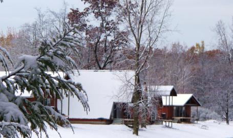 Serenity Springs Hotel Getaway LaPorte Winter Cabins