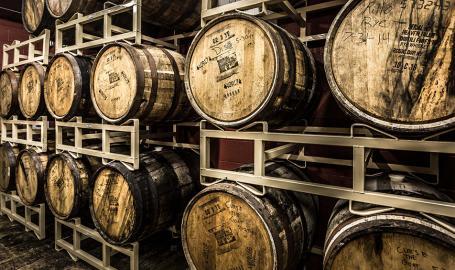 Shoreline Brewery barrels