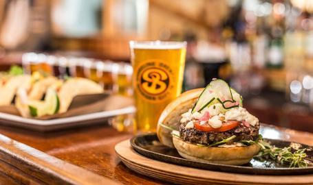 Shoreline Brewery burger