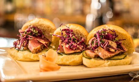 Shoreline Brewery sandwiches