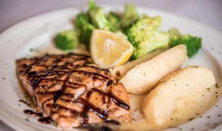 Prime Steakhouse salmon