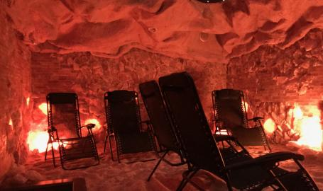The salt cave with stars