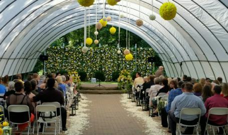 Friendship Botanic Gardens wedding outdoor ceremony