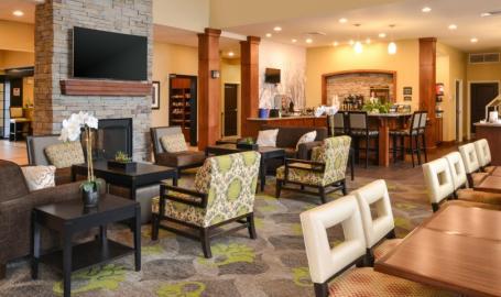Staybridge Suites Merrillville Hotel breakfast seating