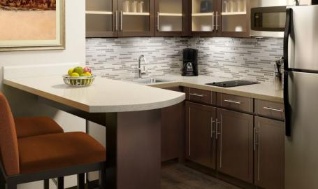 Staybridge Suites Merrillville Hotel suite kitchen