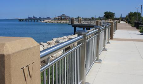 Whiting Lakefront Park walkway