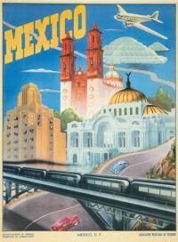 Vintage Mexico tourism poster