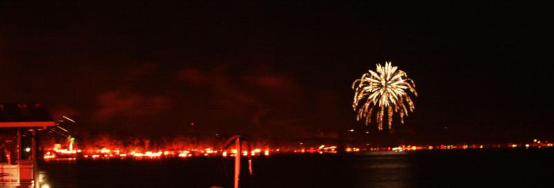 Photo of Canandaigua Lake during the annual ring of fire festival