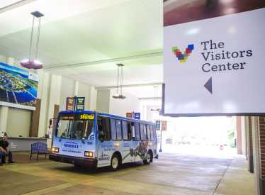 CARTA Free Electric Shuttle at Visitors Center