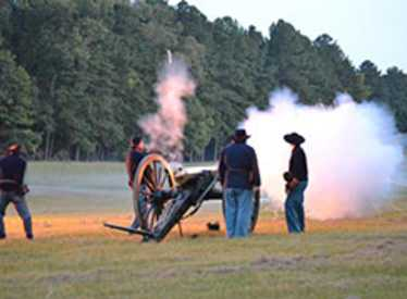 Cannons firing
