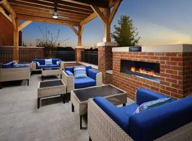 Patio with Fireplace