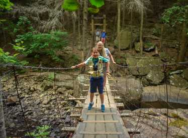 Swinging Bridge Fun