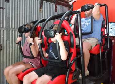 FingerCoaster VR with Family riding