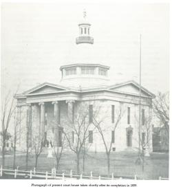 An old picture of the Ontario County Courthouse