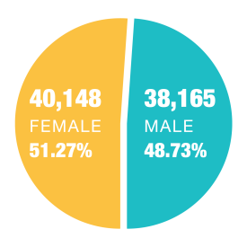 2018 Population by Gender