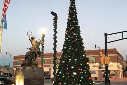 Stockyards City Tree Lighting