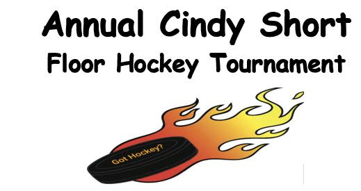 annual cindy short floor hockey tournament logo
