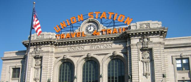 Union Station building and sign