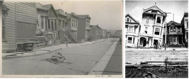 Photo of the 1906 earthquake in Oakland