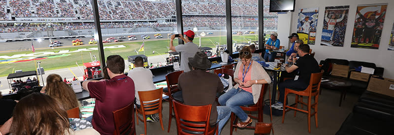 An interior view of the Daytona 500 Club at Daytona International Speedway