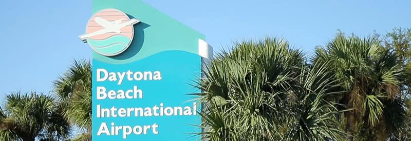 The Daytona Beach International Airport sign.