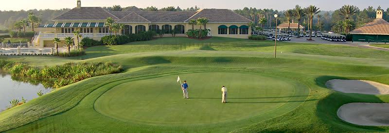 An aerial view of LPGA International Golf Course