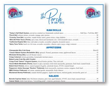 We're Open menu