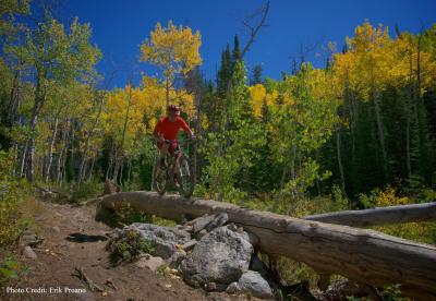 Biking the new BTR trail on Buffalo Pass