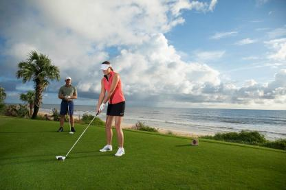 Golfers at Hammock Beach Resort