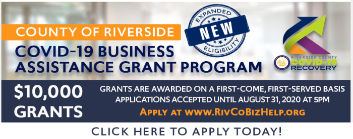 Riverside County Business Assistant Grant Graphic