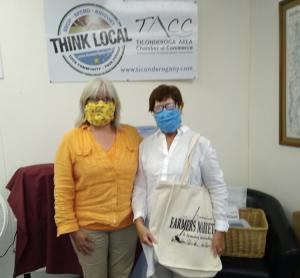 Kelly Carey – TACC Office Administrator & Farmers Market Manager and June Curtis – Farmers Market Advisor.