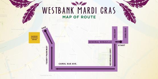 Westbank Parade Route Mardi Gras