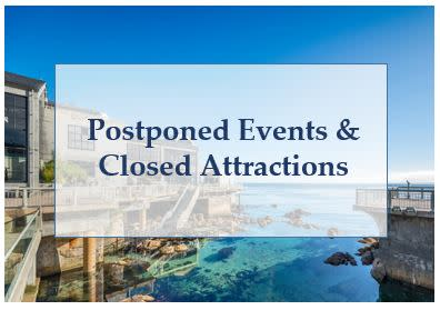 Postponed Events & Closed Attractions