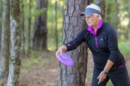 Disc Golfer Sylvia Voakes in Bowling Green