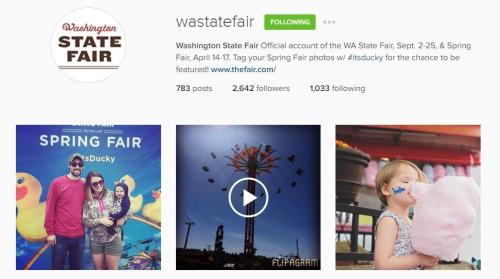 Washington State Fair Instagram