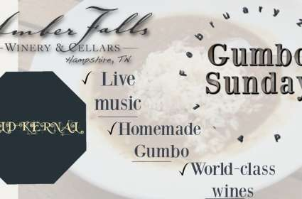 Gumbo Sunday at Amber Falls Winery