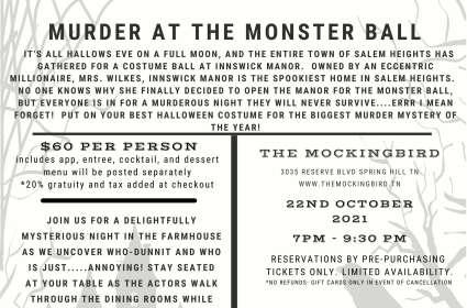 Murder at the Monster Ball